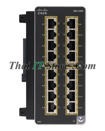 Catalyst IE3300 Rugged 16 Port GE Copper Exp Module