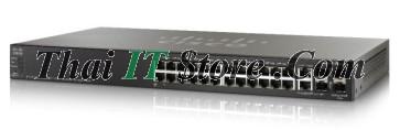 ขาย Cisco SMB SF500 24 Port 10/100 PoE+ 375W w/GE Uplink [SF500-24MP-K9-G5] ราคาถูก