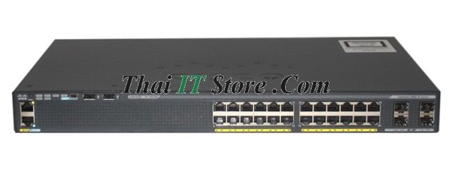 Cisco Catalyst 2960-X | WS-C2960X-24PS-L Catalyst 2960X 24 port 10/100/1000  PoE+ 370W, 4 x 1G SFP, LAN Base