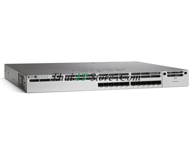 Cisco Catalyst 3850   WS-C3850-12XS-S Catalyst 3850 12 SFP+ Ethernet ports,  350WAC power supply, IP Base