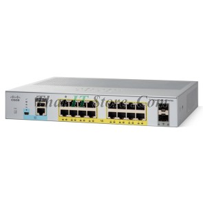 [WS-C2960L-16PS-LL] Cisco Catalyst 2960L 16 port 10/100/1000 Ethernet PoE+ ports, 2 x 1G SFP