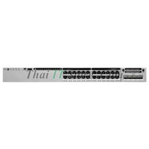 Catalyst 3850 24 10/100/1000 Ethernet 435W PoE+ ports, 715WAC power supply, IP Base