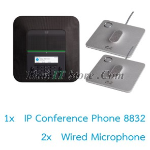 IP Conference Phone 8832 with Wired Microphone Bundle
