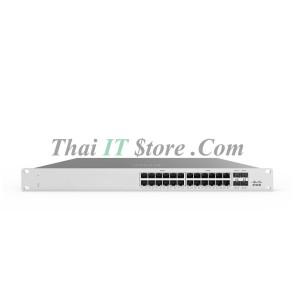 Meraki MS125-24P Cloud Managed 24x GigE, 4x 10GigE Switch 370W PoE