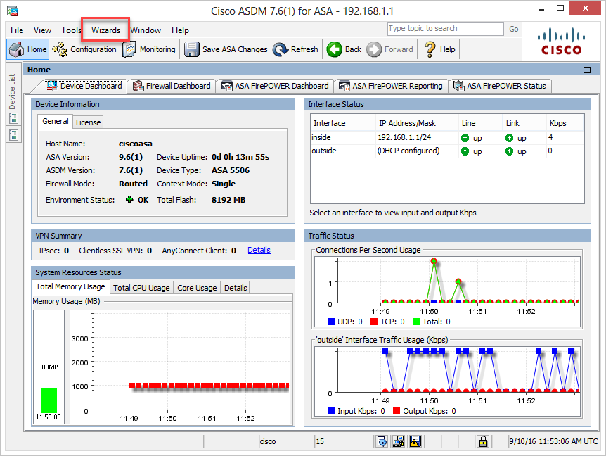 Basic Installation: Cisco ASA 5506-X คืนค่าโรงงาน (Factory